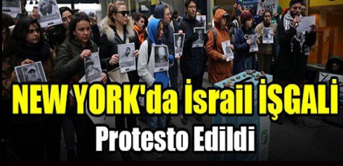 NEW YORK'da İsrail İŞGALİ Protesto Edildi