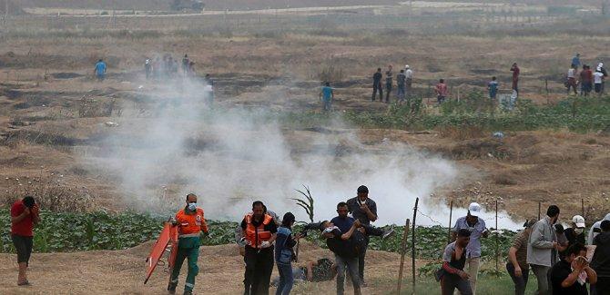 Büyük Geri Dönüş Yürüyüşü eylemleri 6. haftasında:30 Filistinli yaralı