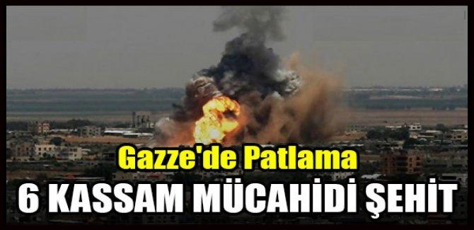 Gazze'de Patlama 6 KASSAM MÜCAHİDİ Şehid