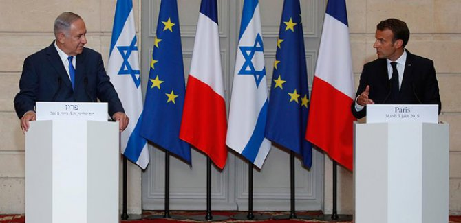 Macron'dan Netanyahu'nun yüzüne 'Gazze' tepkisi