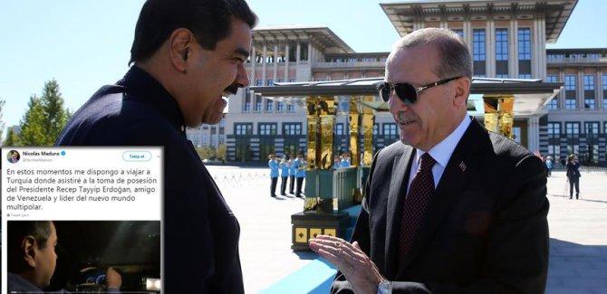 Venezuela Devlet Başkanı Maduro'dan Erdoğan paylaşımı: Çok kutuplu yeni dünyanın lideri Erdoğan