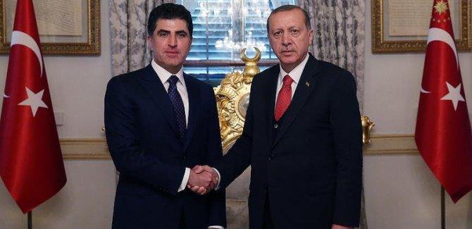 Başbakan Barzani, Cumhurbaşkanı Erdoğan ile görüştü
