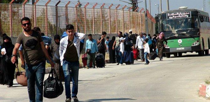 Bayram ziyaretine giden 40.000'i aşkın Suriyeli döndü