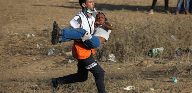 Gazze'de Büyük Dönüş Yürüyüşü gösterilerinde 17'nci Cuma