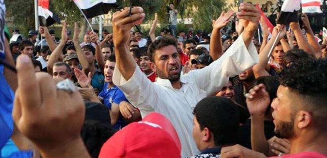 Kerkük'te protestolara katıldı