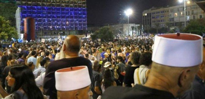 Yahudi Ulus Devlet Yasası Tel Aviv'de protesto edildi