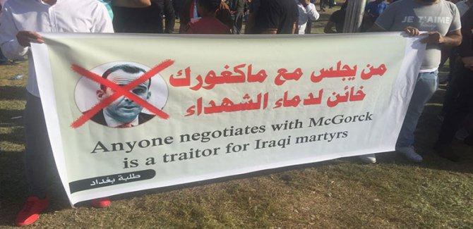 Irak McGurk'e karşı sokağa döküldü