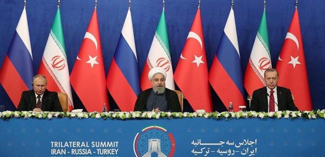 Türkiye-İran-Rusya Zirvesi'nde ortak bildirge taslağı yayınlandı