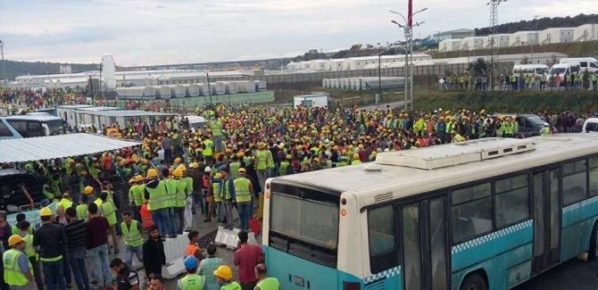 3. havalimanı inşaatında eylem ikinci gününde: Çok sayıda işçi gözaltında