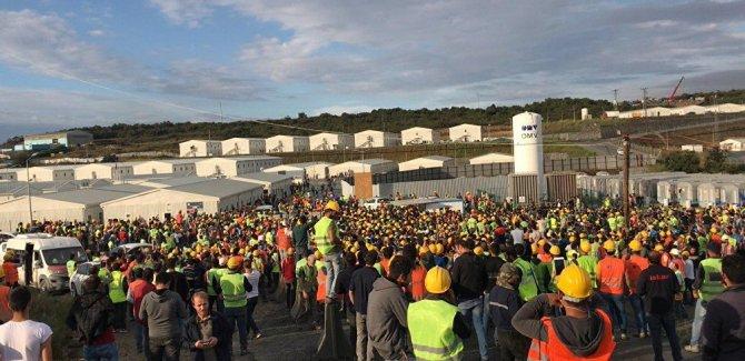 3. havalimanı inşaatında eyleme katılan 24 işçi tutuklandı