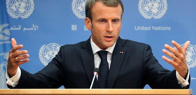 Macron: Hem Türkiye'yi hem Kürtleri memnun edecek bir çözüm mümkün