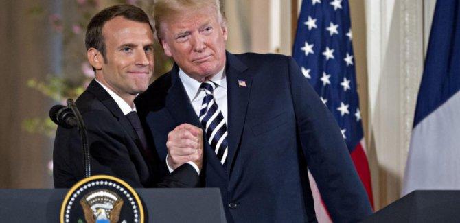 Macron ve Trump: Suriye'de hedeflerimiz ortak