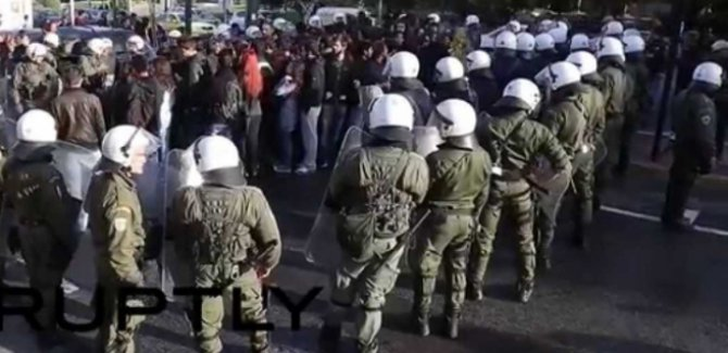 Yunanistan'da öğrencilerle polis arasında çatışma