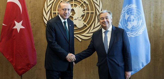 Erdoğan Paris'te BM Genel Sekreteri Guterres ile görüştü