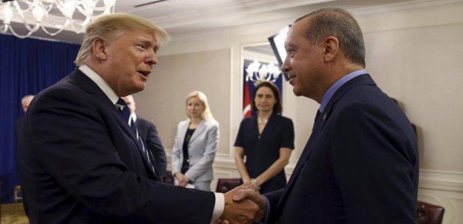 Erdoğan, krizi sonrası Trump'la ilk kez Paris'te görüştü