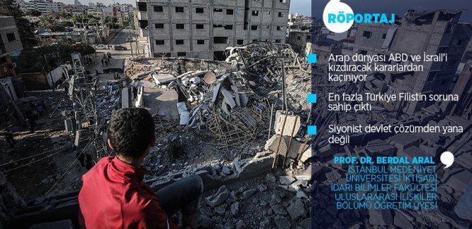 'Dünya, Filistin meselesinde üç maymunu oynuyor'