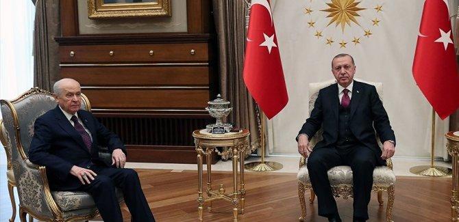 Erdoğan ile Bahçeli'den Beştepe'de ittifak zirvesi