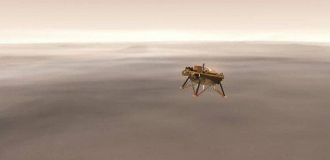 NASA'nın uzay aracı Mars'a iniş yapıyor