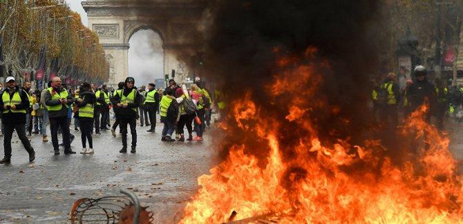 Fransa'da akaryakıt protestosu