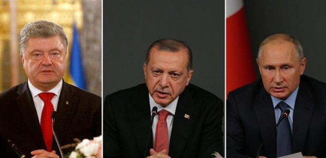 Erdoğan, Putin ve Poroşenko ile Kerç Boğazı'ndaki gerilimi görüştü