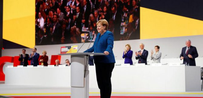 Merkel son konuşmasını yaptı