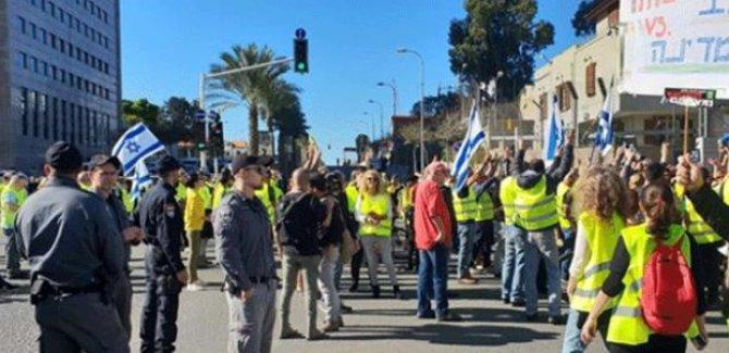 'Sarı Yelekliler' dalgası İsrail'e de sıçradı