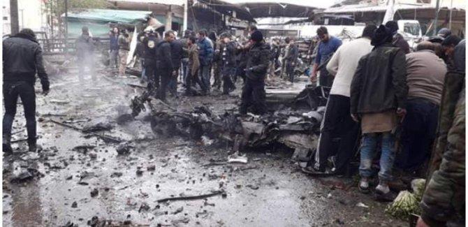 Afrin'de pazarda patlama: Ölü ve yaralılar var