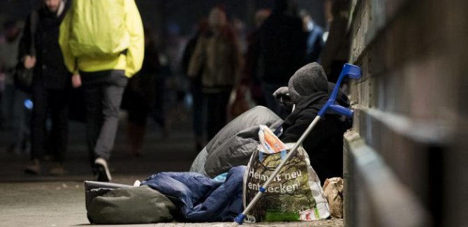 Almanya'da evsizlerin sayısı bir milyonu geçti