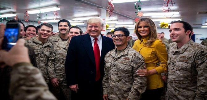 Trump Gizlice Irak'ta