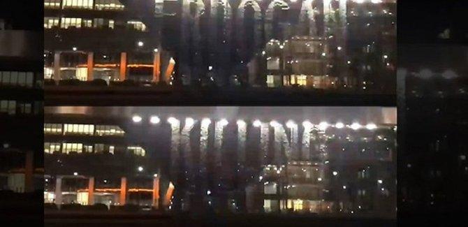 Londra'daki ışık gösterisinden: Erdoğan akademisyenleri öldürüyor