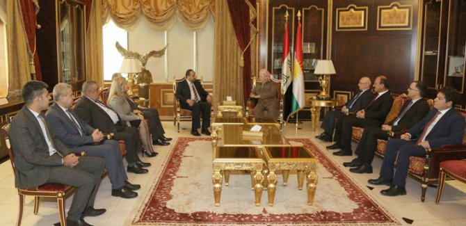 Mesud Barzani'ye Suriye talebi