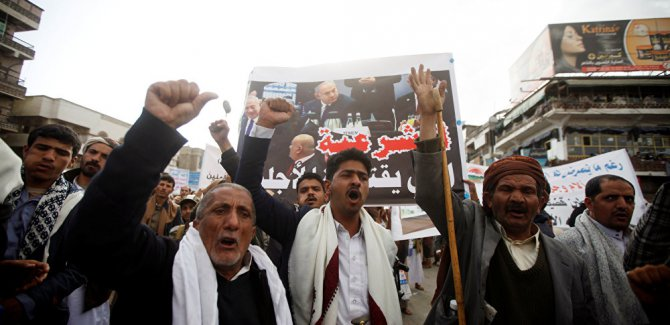 Yemen'de 'İsrail ile normalleşme karşıtı' protesto