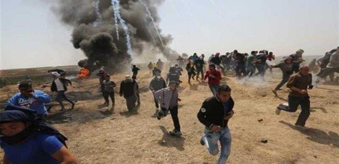 Terör Rejimi İsrail Filistinlilere Saldırdı