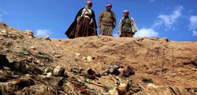 Şengal'de toplu mezarlar açılmaya başlandı