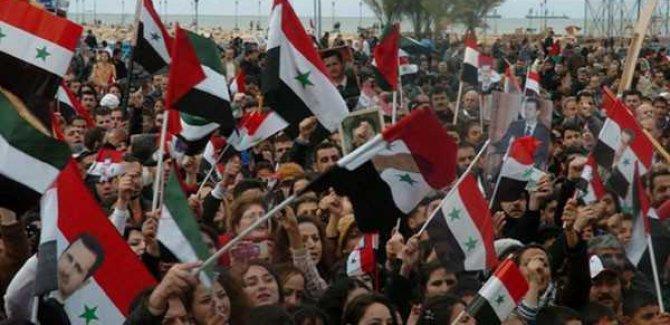Golan Tepeleri'ndeki Suriyelilerden ABD'ye Protesto