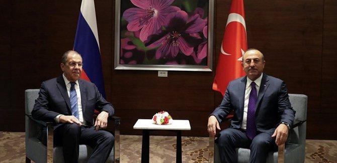 Lavrov ve Çavuşoğlu ile bir araya geldi