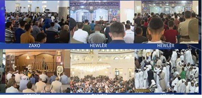 Kürdistan'da Ramazan Bayramı'nın ilk gününde camiler doldu taştı