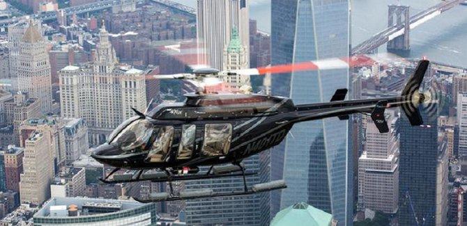 Helikopter gökdelene çarptı!