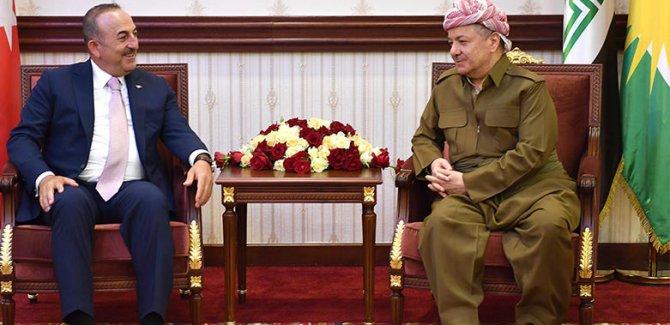 Başkan Barzani Çavuşoğlu ile bir araya geldi