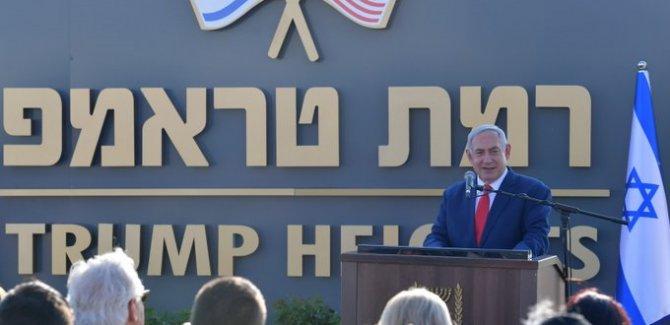 Siyonist İsrail Golan Tepeleri'ndeki yerleşkeye Trump'ın adını verdi