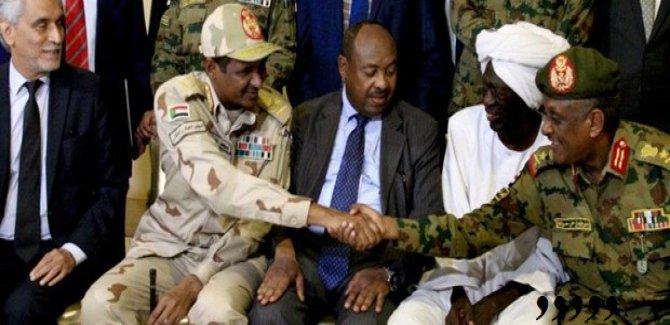 Sudan'da askeri yönetimle, sivil muhalefet anlaştı