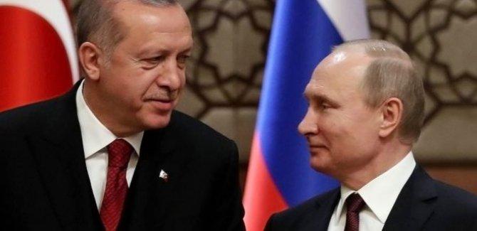 Erdoğan ile Putin arasında telefon görüşmesi