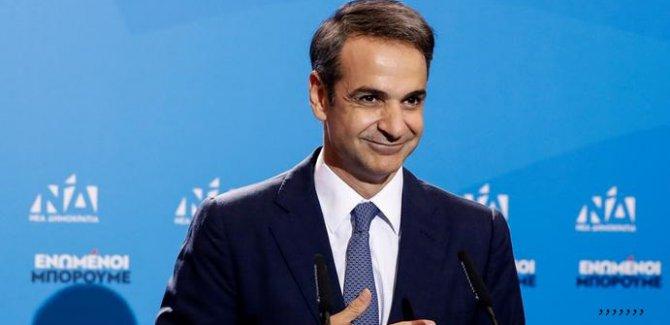 Yunanistan'da seçimi Kiryakos  Miçotakis kazandı