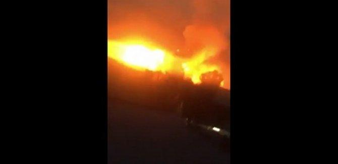 Erbil'de 2 silah deposunda yangın