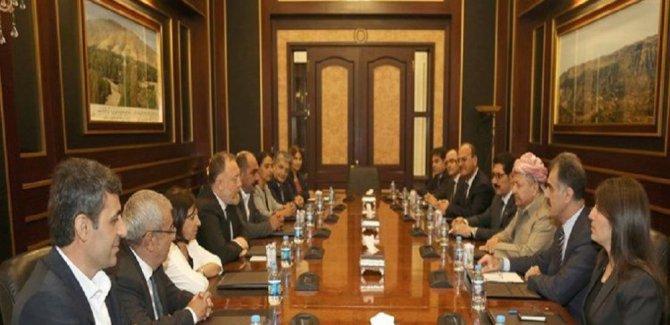 HDP'yle görüşen Barzani: Çözümü ele aldık