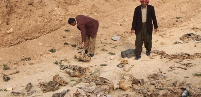 Şengal'de bir evin bahçesinde toplu mezar bulundu