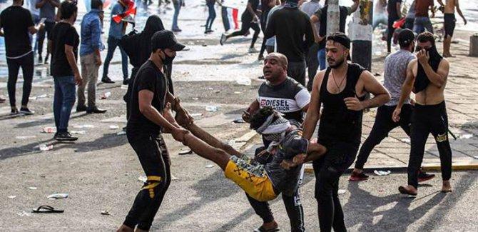 Bağdat'taki gösterilerde 7 kişi öldü 78 kişi de yaralandı
