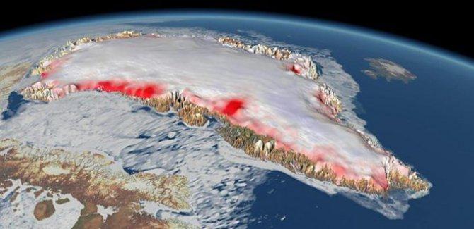 Grönland 7 kat hızlı eriyor