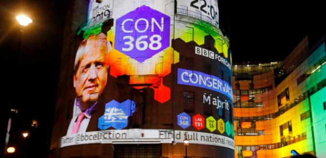 İnglitere'de seçimin galibi  Boris Johnson oldu
