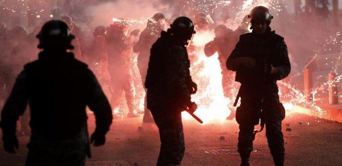 Lübnan'daki protestolarda şiddetli çatışma